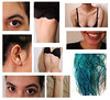 Law (Law Tapias) Tags: blue art girl smile mouth hair rebel eyes body part clavicles 1200d