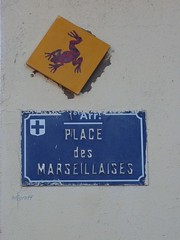 Graff in Marseille (brigraff) Tags: streetart marseille frog panasonic urbanart toad provence sapo rana frosch grenouille krte carrelage crapaud artedelacalle tz7 panasonictz7 brigraff artubain