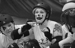 On the Bench - Brighton Rockers (383) (Malcolm Bull) Tags: roller clowns derby magicians rockers include brigthon 20150207roller0383edited1web