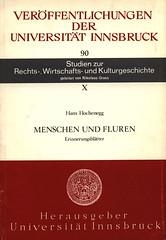 Innsbruck - Verffentlichungen der Universitat Innsbruck, Studien zur Rechts-, Wirt