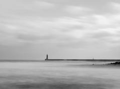 Tynemouth Pier (aaronlambert1982) Tags: sea england blackandwhite seascape storm pier nikon north sigma stormy tyne wear east northsea tynemouth newcastleupontyne leebigstopper nikond5100