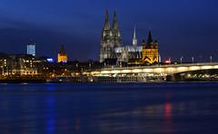 Classic View on Cologne (Blende1.8) Tags: bridge germany deutschland nikon cathedral dom cologne kln bluehour brcke rhine rhein klnerdom blauestunde d610 colognecathetral carstenheyer