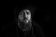 cool dude (Ferdinand Bart Alst - Pixel Your Soul Photography) Tags: portrait bw musician man male art dark blackwhite lowlight friend darkness lowkey oddbeard