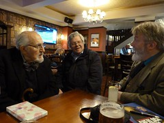 At the Lord Raglan - Douglas Wilmer, Nick Utechin & Roger Johnson (photo by Jean Upton)