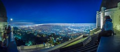 2015.02.06_BlueMoonNightSky_GriffithParkObservatoryPlanetarium_DSC_0874-75-76_PANO_2048x900 (if you can't lick 'er) Tags: above city sky moon abstract love up night la smog losangeles high bare perspective ciudad observatory planetarium griffithpark griffith dtla