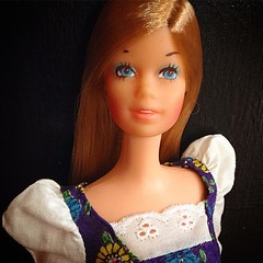 In Your Eyes. 2/14/2015 (Kylie Minogue) #valentinesday #vintage #vintagebarbie #european #version #stacey #malibu #pale #fierce #getman #version #70s #all #original #outfit #peasant #pleasant #mod #dress #enjoylife #lazyday #lazy #dance #pop #dancemusic (Brentments) Tags: original light brown canada vintage hair square outfit mod doll european all fierce gorgeous version barbie malibu pale indoors german squareformat 70s february 1970s pleasant peasant titian 2015 loveher iphoneography instagramapp