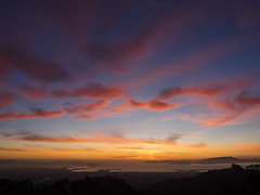Sunset 02-25-15 (Ellen Soohoo) Tags: sunset clouds oakland bay san francisco olympus area 365 february 2015 1240mm