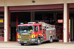 Spare 181 running as Adelaide 201 (adelaidefire) Tags: fire south australian service sa metropolitan scania mfs 0181 samfs
