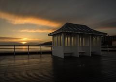 BOARDWALK GLOW   (EXPLORED) (lynneberry57) Tags: uk longexposure sea seascape clouds sunrise canon pier colours norfolk eastanglia cromer 70d