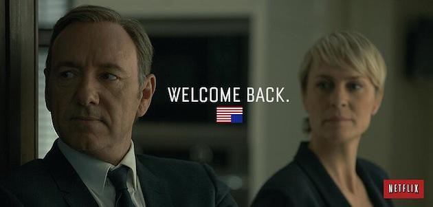 HOUSE OF CARDS season three is now available on Netflix http://t.co/dNNfhqb1Hd http://t.co/YiAXRJCO5J