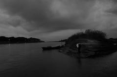 Untitld (bivAsh das) Tags: life sky people bw cloud water work river boat blackwhite fishing worker bangladesh saarc