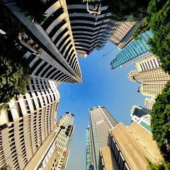 Look Up - Makati Central Business District, Makati City, Philippines