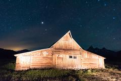 John Moulton Barn (jetguy1) Tags: lightpainting barn stars nightshot grandtetons moultonbarn