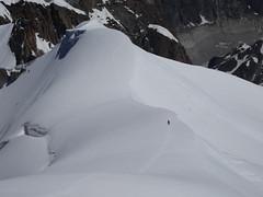 Lonely Climbers (williamfranck) Tags: mountain snow france europe hiking du lonely midi chamonix climbers aiguilledumidi aiguille