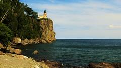 Split Rock Lighthouse, North Shore, Lake Superior, Minnesota (BreezyWinter) Tags: summer sky usa lighthouse lake history water minnesota america shoreline northshore lakesuperior twoharbors splitrocklighthouse minnesotastatepark