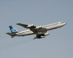 Saha Air  (Iran)                       Boeing 707                               EP-SHE (Flame1958) Tags: 2003 uae 707 sharjah unitedarabemirates 1103 shj boeing707 b707 saha 2176 241103 epshe sharjahairport sahaair sahab707