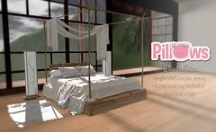Wooden Futon (vivianomizu) Tags: sanarae sl secondlife ppillows 3d