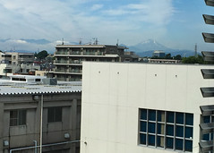 View of Mt. Fuji on a clear day from 100+ kms away (chinnip) Tags: japan mountain volcano mountfuji fujiyama fuji mtfuji kodaira