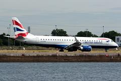 BA CityFlyer - Embraer ERJ-190SR - G-LCYM  London City Airport (paulstevenchalmers) Tags: londoncity london lcy airport