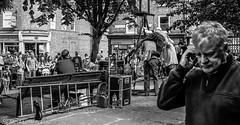 Cheerful Street entertainment ahead of the York Fringe. (steve.gombocz) Tags: street york bw blackwhite noiretblanc zwartwit streetphotography olympus blacknwhite greyscale streetphotos noirblanc whiteblack streetentertainment negroyblanco bwphotos svarthvitt mustavalkoinen negroblanco neroebianco blackwhitephotos schwartzweiss olympuscamera nerobianco sortoghvid olympususers olympusdigitalcamerausers olympuszuikodigitalclub svartochvitt schwartzundweiss svartoghvitt flickrbw bwflickr olympusblackwhite olympusbw olympusm25mmf18 olympusmzuiko25mmf18lens olympusem5mark2 flickrbwphotos czarnyibiaty micro43rduk flickrblackwhitephotos