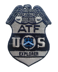 ATF Subdued Explorer Badge Patch (Patch Collector) Tags: katrina team 5 hurricane police special alcohol camouflage badge agent technician patch bomb federal tobacco explosives k9 response instructor gman firearms srt bullion atf investigator subdued