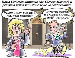 May-Cameron (Moise-Creativo Galattico) Tags: uk gb vignette satira attualit moise giornalismo theresamay editoriali moiseditoriali editorialiafumetti brexit davudcameron