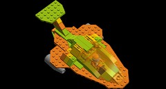 Lemon Orange Lime In Space - Top View (cruzen19501) Tags: lego lol space spaceship spacecraft