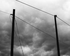 Pair (Davide Bon) Tags: nikon nikond7100 d7100 storm street electric lines pair simple minimal rain blackandwhite bw vscofilm vsco grain