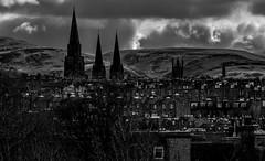 Edinburgh (Light Manoeuvre) Tags: city sky blackandwhite monochrome clouds scotland blackwhite nikon edinburgh shadows 5100
