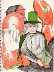 Ringbuch grau 007 Magier (JENS01) Tags: bunt magier buntstift graphite bleistift sketch malerei sketches berlin friedrichshain art kunst skizze painting dessin
