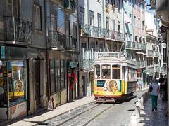 Tram (~janne) Tags: europa kamera portugal verkehr em1 europe lissabon omd strase strasenbahn street tram