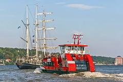 """Harmonie"" meets ""Thalassa"" (maritime.fotos) Tags: harmonie thalassa segelschiff sailingvessel hafenfhre harbourferry hamburg bubendey bubendeyufer hadag hamburgerhafen portofhamburg"