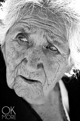 Ojos de Santa Maria (Ok More Photos) Tags: portrait people mexico travel bw light old black white woman life person face grey vida retrato mujer luz cara visage wrinkle santa maria rides wrinkled mexicana vieja vie anciana arrugas blackandwhite whitehair