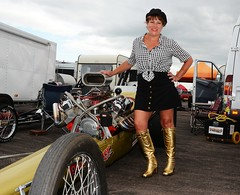 Ruth_7106 (Fast an' Bulbous) Tags: girl woman mature milf hot sexy chick babe drag dragster race car vehicle automobile fast speed power santa pod skirt boots people outdoor nikon motorsport d7100 gimp