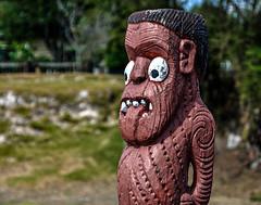 Maori Wood Carving (Kiwi-Steve) Tags: nz newzealand northisland rotorua bayofplenty maori woodcarving nikond90 nikon