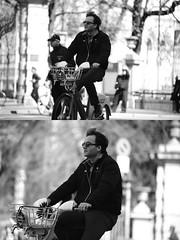 [La Mia Citt][Pedala] con il BikeMi (Urca) Tags: milano italia 2016 bicicletta pedalare ciclista nikondigitale mir bike bicycle biancoenero blackandwhite bn bw ritrattostradale portrait dittico 872143 bikemi bikesharing