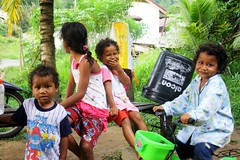 Welcome to cute world (vankerkoven.ludovic) Tags: kids forest malaysia magic river jungle smile happy cute adorable evening kkb village indigenous selangor