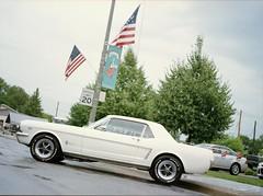 CWP_20160801_0008-2 (christopher wolf photography) Tags: car white flag mustang ford goodyear eagle nascar tires show mamiya m645 1000s kodak ektar 100 montgomery mn