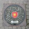 Bodø manhole cover (Brian Aslak) Tags: bodø bådåddjo budejju buvdda nordland nordnorge norge norway scandinavia europe urban fragment detail kumlokk kommunevåpen heraldry coatofarms