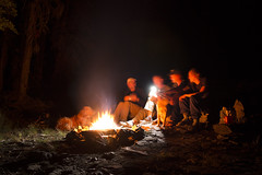 Comfort in Fire II (s_jenkV2) Tags: mission mountains mountain range montana swan seeley valley approach piper basin lakes ducharne summer season 2016 backpack trip hiking explore adventure forest nature wild wilderness huckleberry bush camp camping fire campfire canon 70d