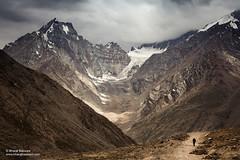 View from Kunzum pass, Himachal Pradesh (Bharat Baswani) Tags: kunzum kunzom la pass mountains himalayas himachal spiti gateway cb range chandrabhaga glacier hanging human element scale giant clouds landscape silhouette pradesh incredibleindia raw nature