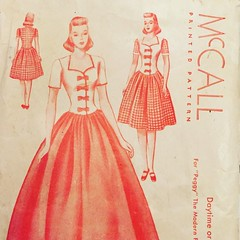 (lexiechan) Tags: vintage compo mannequin doll sewing mccall mccalls peggy composition 1940s