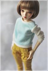 CottonCandy Pullover in BabyBlue (Red Ribboned Dolls) Tags: bjd abjd msd slimmsd 14 fairyland mnf minifee chloe auri redribbon redribboneddolls doll dolls dollfie dollclothes handmade etsyshop miniatures