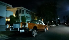 (hot_tub_jonny) Tags: california sony phone street losangeles dim night dark orange car classic lift lifted prop shine shimmer old antique character vintage typical palm tree road house suburb suburbs neighborhood united states america vehicle unitedstates northamerica west coast coastal