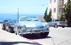 Volkswagen Karmann Ghia  Laguna Beach CA (Ash Dowie) Tags: volkswagen vw aircooled retro vintage cabriolet convertible karmannghia blue sky beach california lagunabeach la losangeles socal usa canon 6d dslr slr german cars automobiles raggman