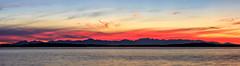 Olympic Sunset (jetcitygrom) Tags: olympic mountain brothers range sunset colors hues panorama canon 6d elliot bay seattle washington landscape sky