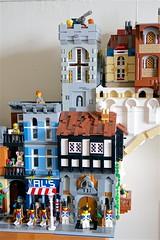 Western Tower (mcmorran) Tags: lego bridge constantinebridge modularbuildings lordbusiness tudor