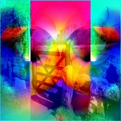 Hot & Cold (Joe Vance aka oliver.odd) Tags: art abstract color light hot cold surreal rural gate field
