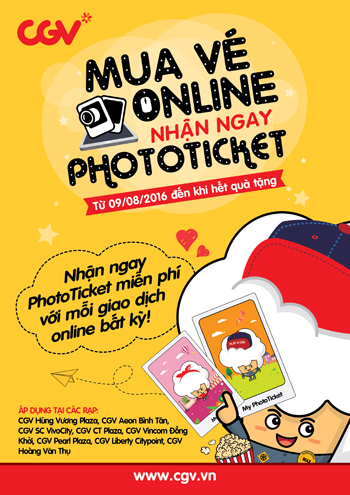 Mua Vé Online, Nhận Ngay PhotoTicket