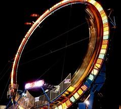 DSC02239 (Moodycamera Photography) Tags: canadiannationalexhibition cne toronto ontario nightphotography rides slowshutterspeed long exposurerlights ferriswheel swing turning twisting spining amusment horse hdr